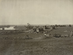 Kashmir. General view of ruins of Temple of Avantiswami at Avantipore. Probable date A.D. 852 to 854